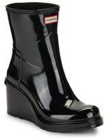 Hunter Refined Short Mid-Wedge Gloss Rain Boots
