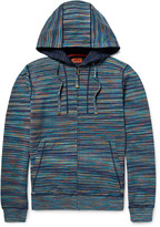Missoni - Slim-fit Space-dyed Knitted Cotton Zip-up Hoodie