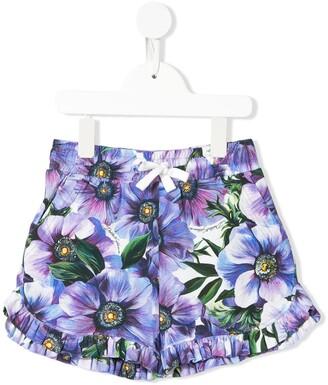 Dolce & Gabbana Kids Anemone Print Shorts