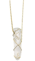 Kara Ross Gold and Crystal Quartz Dagger Necklace