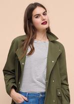 Violeta BY MANGO Buttoned Cotton Jacket