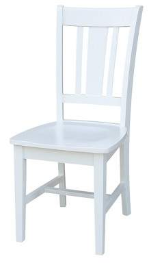 International Concepts San Remo Splat Back Dining Chair White (Set of 2)