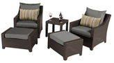 Deco Bliss Club Chair and Ottoman Set (5 PC)