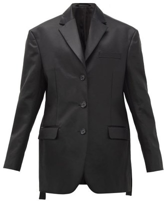 Acne Studios Jill Oversized Single-breasted Satin Blazer - Womens - Black
