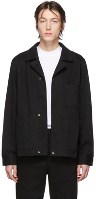 Acne Studios Black Twill Three-Pocket Chore Jacket