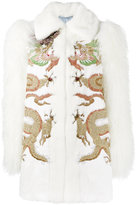 Gucci embroidered fur jacket - women - Silk/Goat Fur/Mink Fur/Lamb Fur - 42