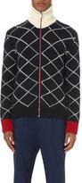 Gucci Geometric-intarsia Zip-up Wool Jacket
