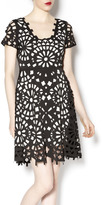 Gracia Laser Cut Black Dress