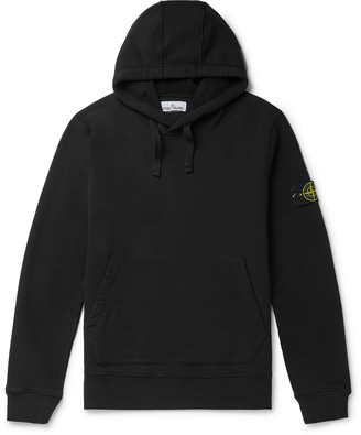 Stone Island Logo-Appliqued Fleece-Back Cotton-Jersey Hoodie