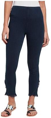 Lysse Fringe Tulip Hem Denim Pants (Indigo) Women's Jeans