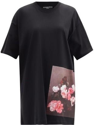 Raf Simons Ss18 Longline Cotton-jersey T-shirt - Black