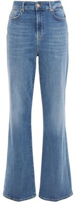 7 For All Mankind Lisha Faded High-rise Flared Jeans