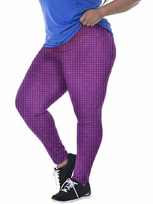 Fruit of the Loom Women's Plus Size Active Printed Legging