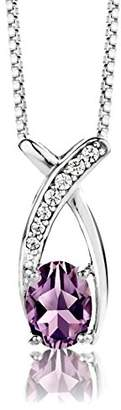 Camilla And Marc ByJoy Necklace for Women Sterling Silver pendant Alexandrite 45 cm chain 925 Silver