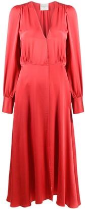 Forte Forte V-neck gathered silk dress