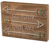 Primitives by Kathy Go Your Own Way Arrow String Art Box Sign