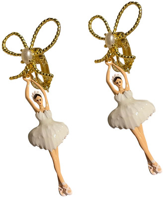 Les Nereides White Gold plated Earrings