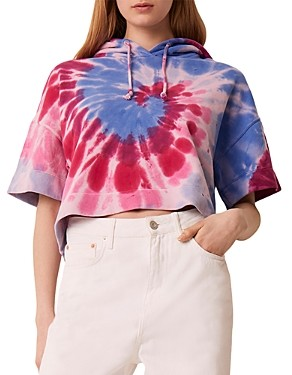 French Connection Prina Cotton Tie Dyed Hoodie