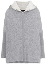Loro Piana Leather-trimmed cashmere-blend hoodie