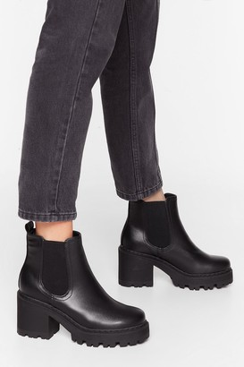 Nasty Gal Womens Stand With Us Wide Fit Cleated Boots - Black