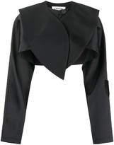 Lanvin oversized collar cropped jacket