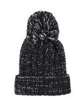 Quiz Black Knit Pom Pom Hat