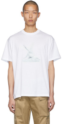 Burberry White Wallace T-Shirt