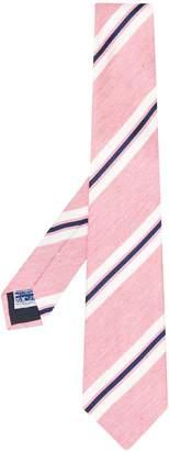 Tagliatore contrast diagonal stripes silk tie
