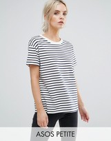 Asos Boxy T-Shirt In Stripe