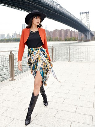 New York & Co. Print Tie-Waist Skirt - NYC Strong Collection