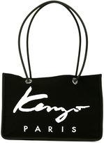 Kenzo Signature tote - women - Cotton/Calf Leather/Nylon - One Size
