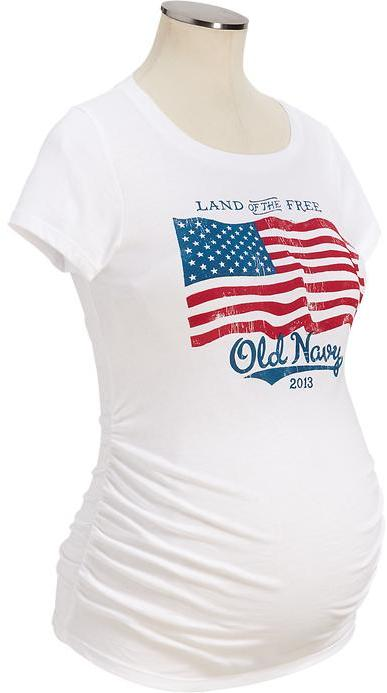 Old Navy Maternity 2013 Flag Tees