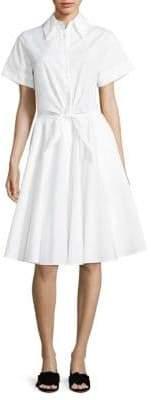 Diane von Furstenberg Tie-Front Cotton Shirtdress