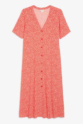 Monki Short sleeve buttoned dress