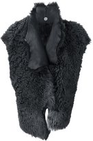 Lost & Found Ria Dunn - open waistcoat - women - Sheep Skin/Shearling/Spandex/Elastane/Wool - M