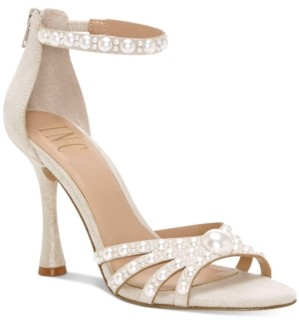 INC International Concepts Inc Women's Riolana Pearl Evening Sandals, Created for Macy's Women's Shoes