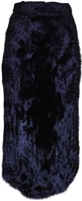 Kenzo Purple Velvet Skirt for Women