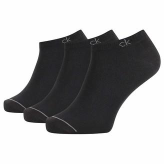 Calvin Klein Men's ECR274 Herren Sneakersocken 3er Pack Schwarz 40/46 Socks