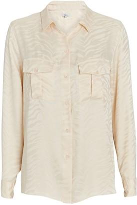 Rails Kate Tiger Jacquard Silk Shirt