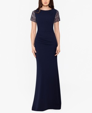 Xscape Evenings Embellished Scuba Gown