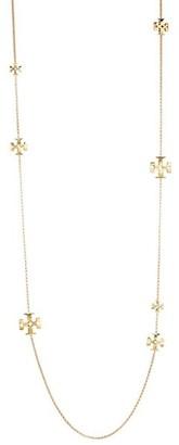 Tory Burch Kira Logo Goldtone Long Chain Necklace