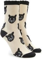 Forever 21 Mesh Cat Socks