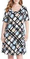 Karen Kane Plus Size Women's Print A-Line Dress