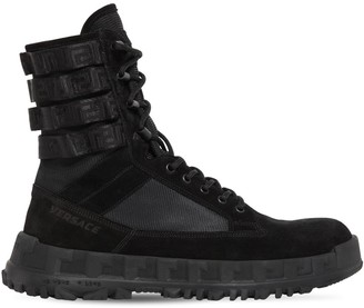 Versace 40mm Leather Lace-Up Hiking Boots