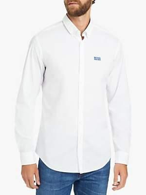 HUGO BOSS BOSS Biadia Oxford Chambray Shirt, White