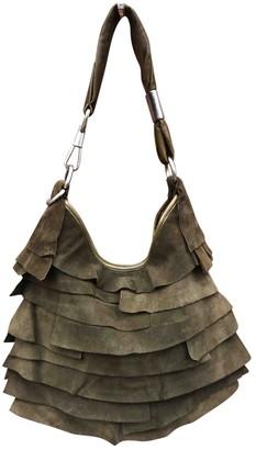 Saint Laurent Khaki Suede Handbags