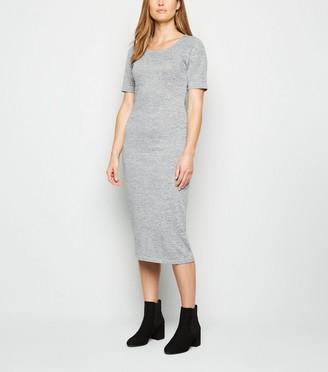 New Look Fine Knit T-Shirt Midi Dress