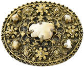 One Kings Lane Vintage Etruscan Pearl & Gilt Brooch