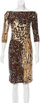 Roberto Cavalli Printed Knee-Length Dress w/ Tags