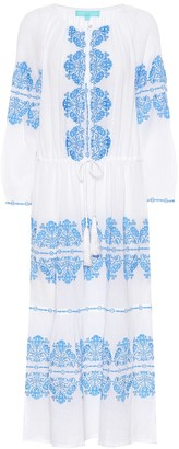 Melissa Odabash Lillie embroidered cotton dress